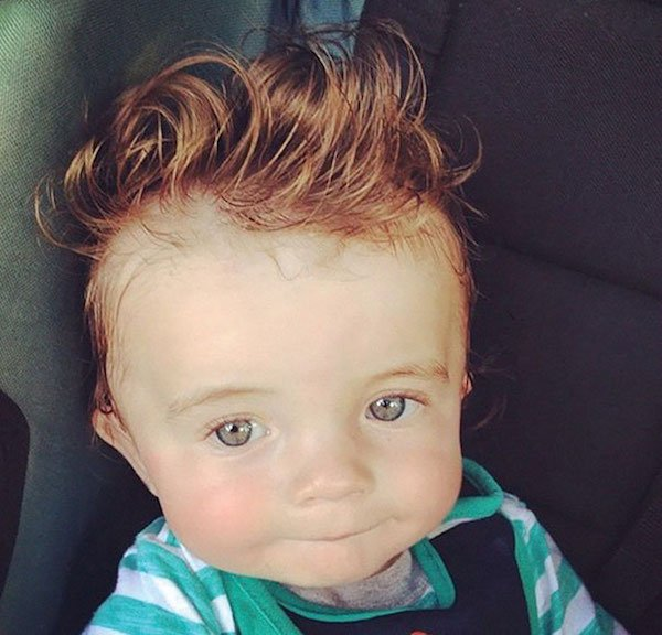 funny hairy babies 2 57051fce48c17  605 Babies with adult heads of hair are the stuff of legend (30 Photos)