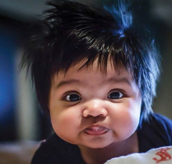 funny hairy babies 3 57051fd05d4bb  605 Babies with adult heads of hair are the stuff of legend (30 Photos)