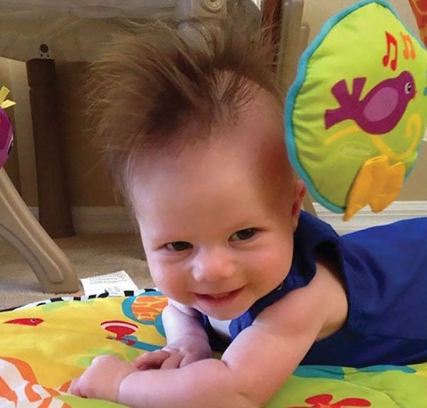 funny hairy babies 8 57051fdd1d619  605 Babies with adult heads of hair are the stuff of legend (30 Photos)