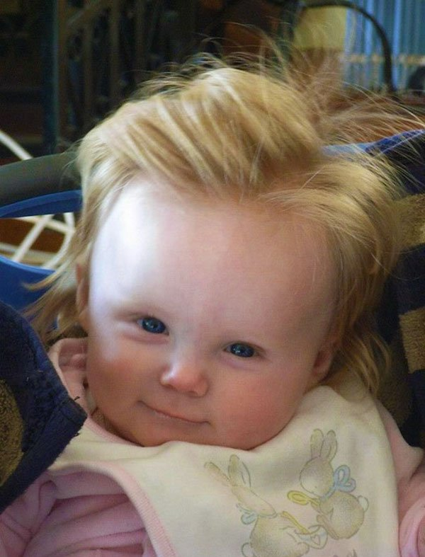 funny hairy babies 43 570610bfd67c4  605 Babies with adult heads of hair are the stuff of legend (30 Photos)