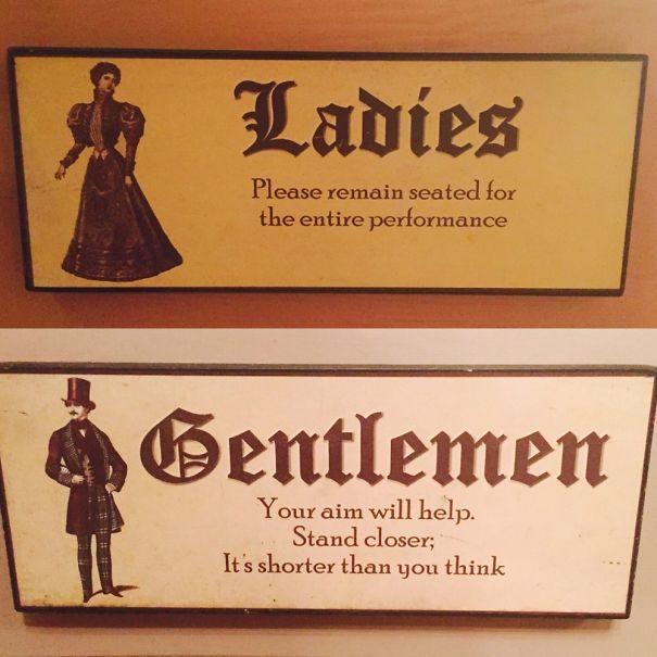30個讓人上廁所會差點「笑到失禁」的爆笑洗手間標示!
