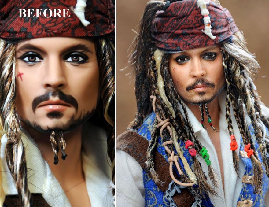 藝術家看不慣名人「娃娃做太醜」自己重畫出「逼真到嚇人」的臉孔!