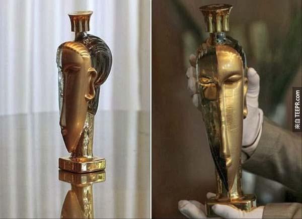 瓶裝水: $180萬台幣的 750ml Acqua di Cristallo Tributo a Modigliani 的瓶裝水