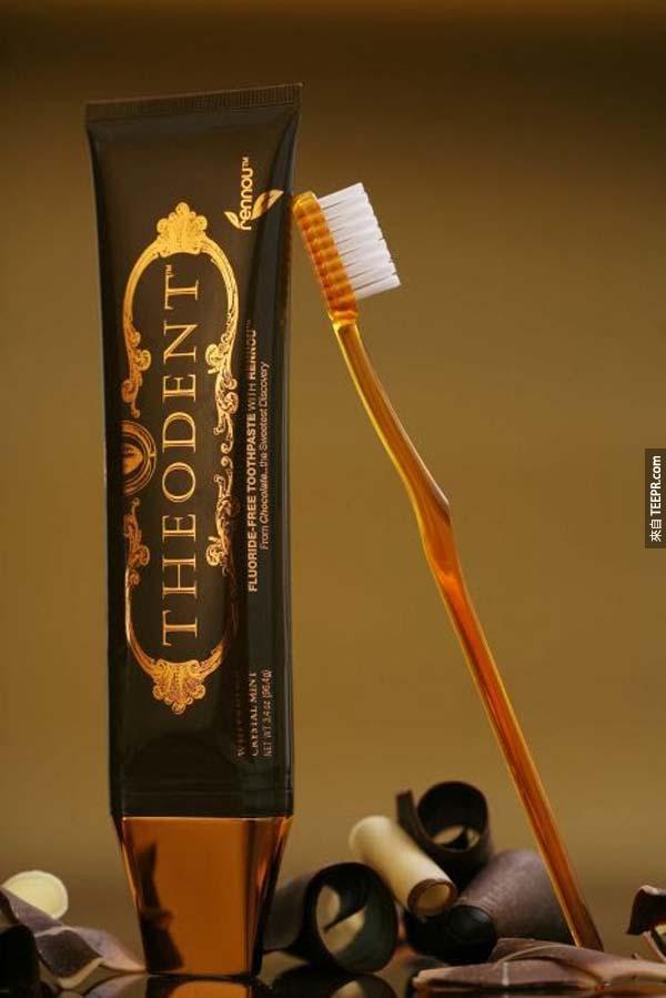 牙膏: $9,000的Theodent牙膏
