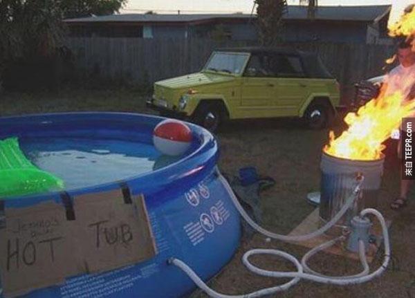 """6.) """"熱澡缸""""...這樣會不會有點危險?"""