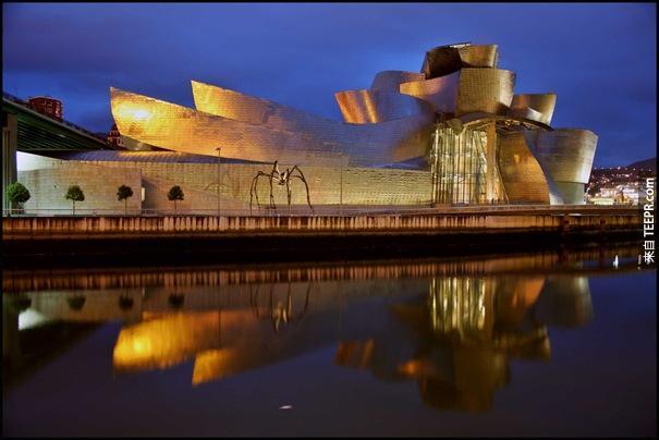 27. 古根海姆博物館(畢爾巴鄂,西班牙)
