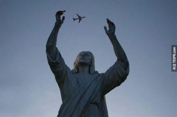 40.) 耶穌,我知道你很神,但是不要亂玩飛機!