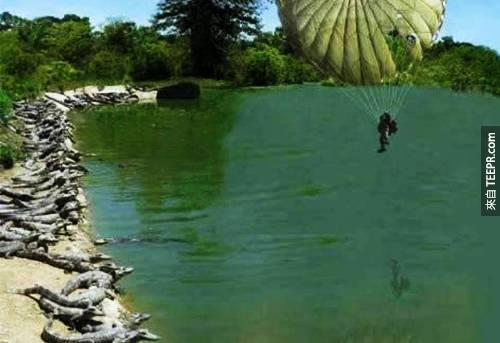23. 呃...這名跳傘哥好像降落不了?
