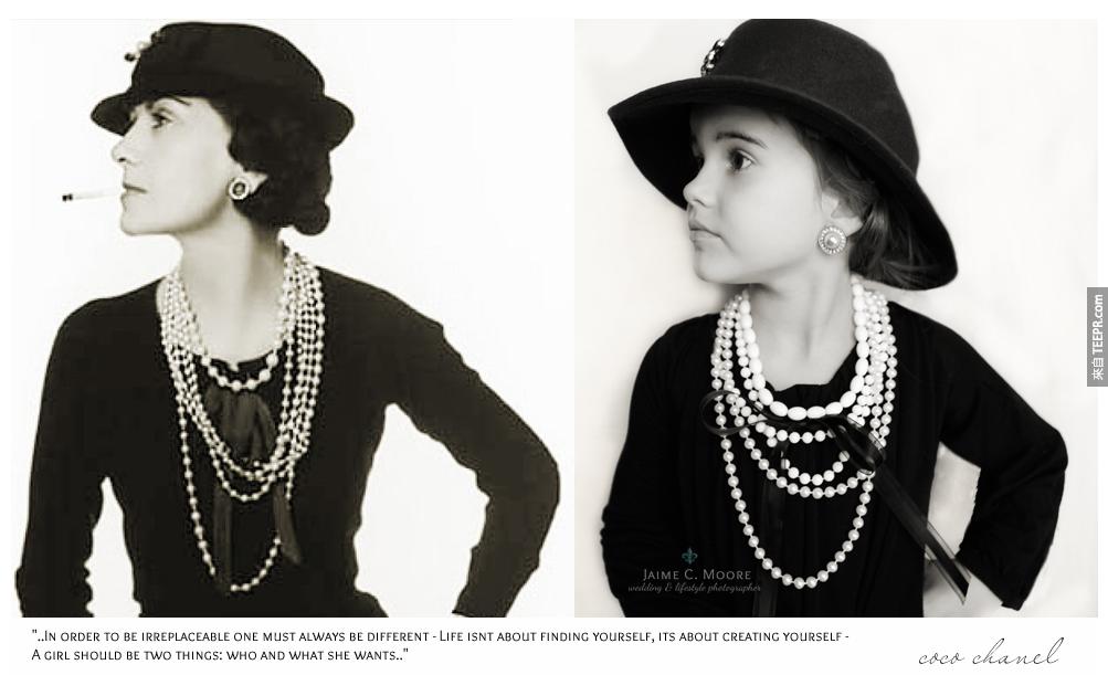 可可 香奈兒 (Coco Chanel): 這位應該不用介紹了吧?當然是全世界時尚界的傳奇女性。