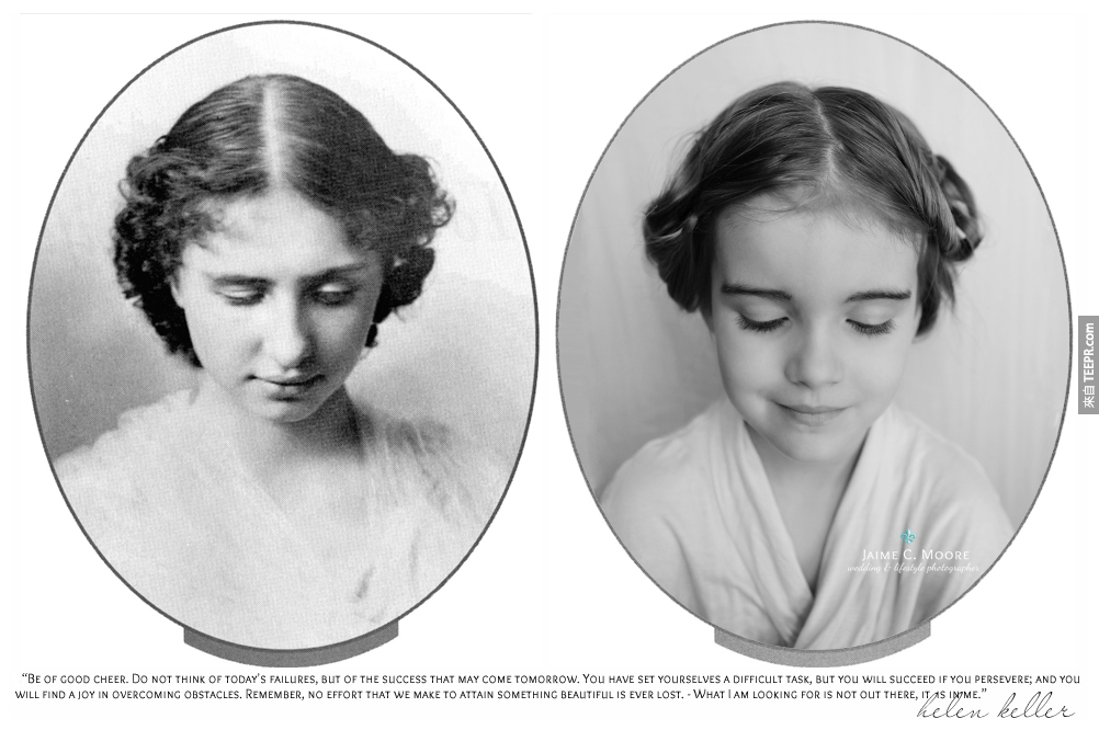 海倫·亞當斯·凯勒 (Helen Keller): 一名歷史裡有名的失聰也失明的一位傳奇女性。就算有極度的先天殘疾,她還居然能完成在哈佛大學的學位,而且還是英語、法語、德語、拉丁語和希臘語的作家和教育家。說真的,我能聽能看,但是還是比不上她!