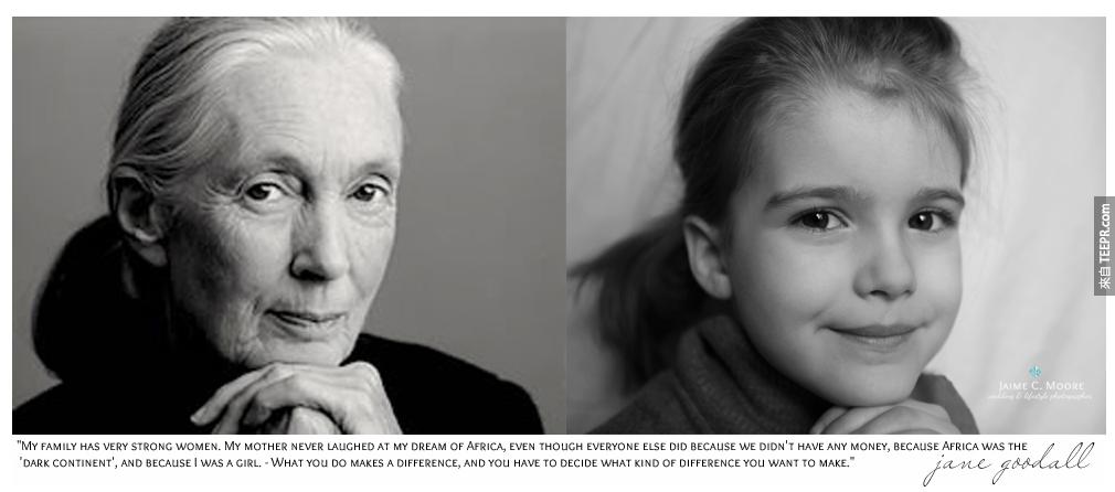 珍 古道爾 (Jane Goodall): 全世界最偉大的動物保育人士,大自然最大的恩人。超崇拜她的!