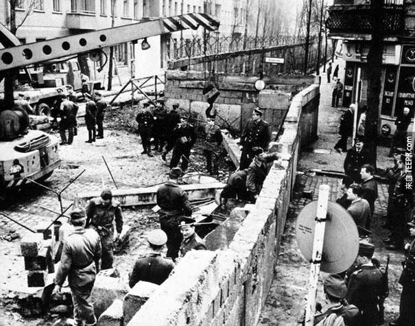 柏林牆建造的過程 - 1961