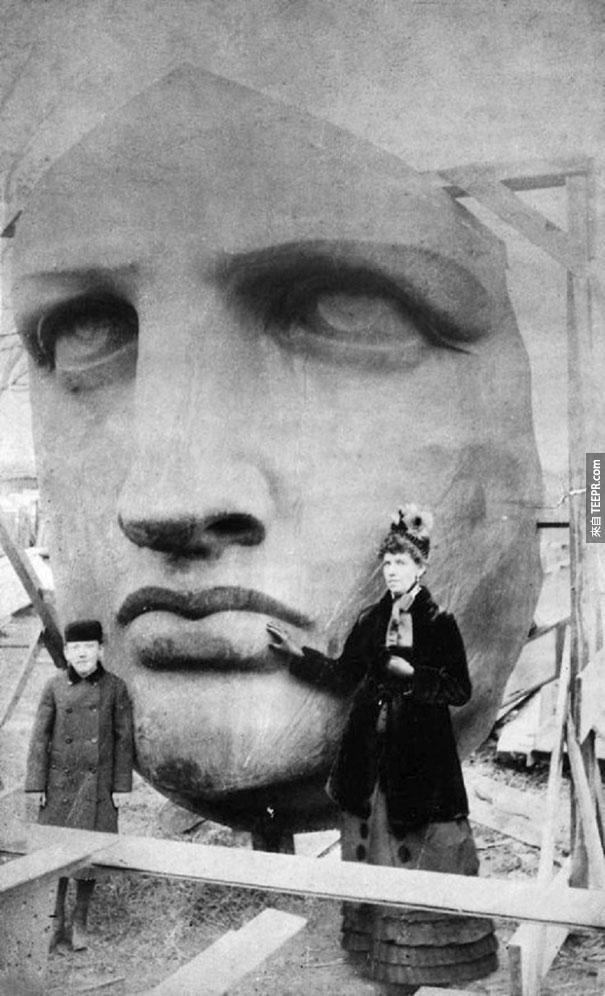 自由女神頭部卸下 - 1885