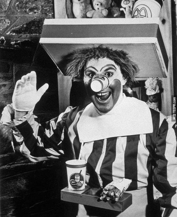 第一版的麥當勞叔叔 (好恐怖喔) - 1963