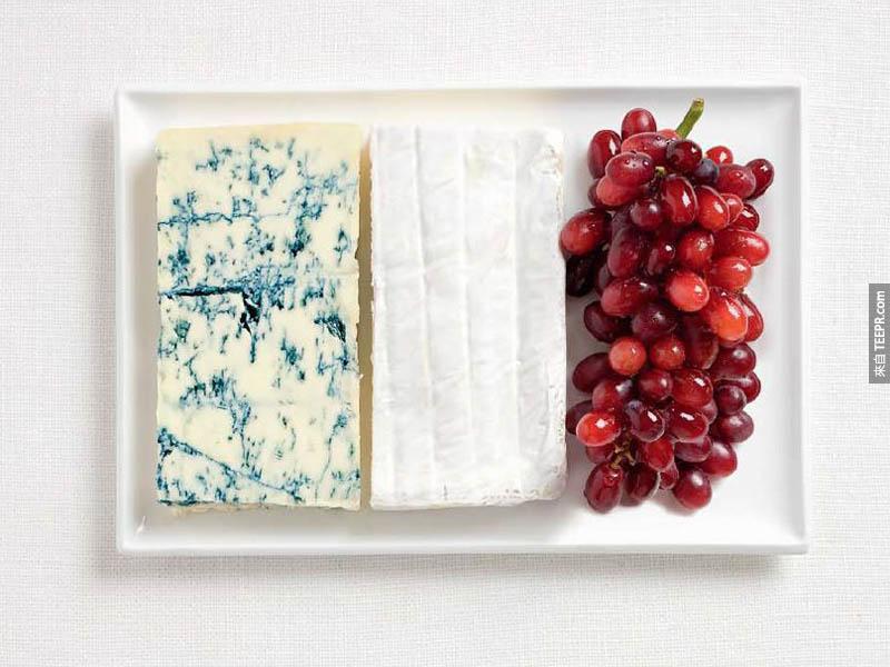 法國 - 藍乳酪、布里奶酪、葡萄