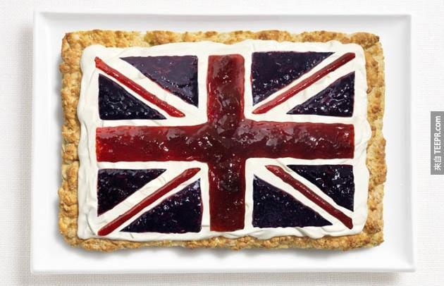 英國 - 司康餅 (Scone)、奶油、果醬
