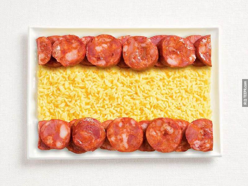 西班牙 - 香腸、飯