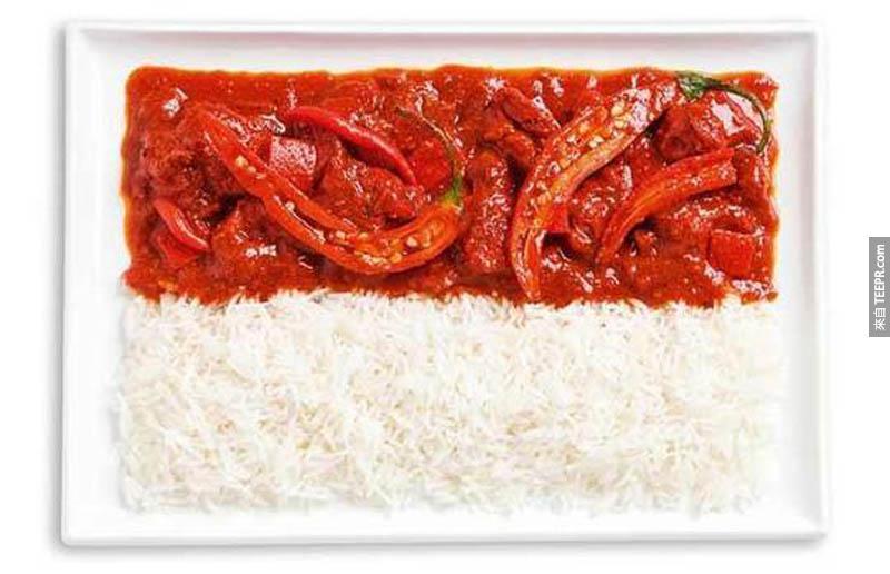 印尼 - 辣咖哩、飯