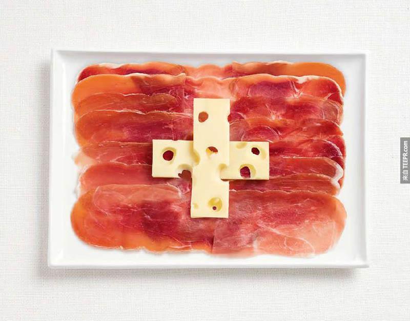 瑞士 - 鹹肉、瑞士奶酪