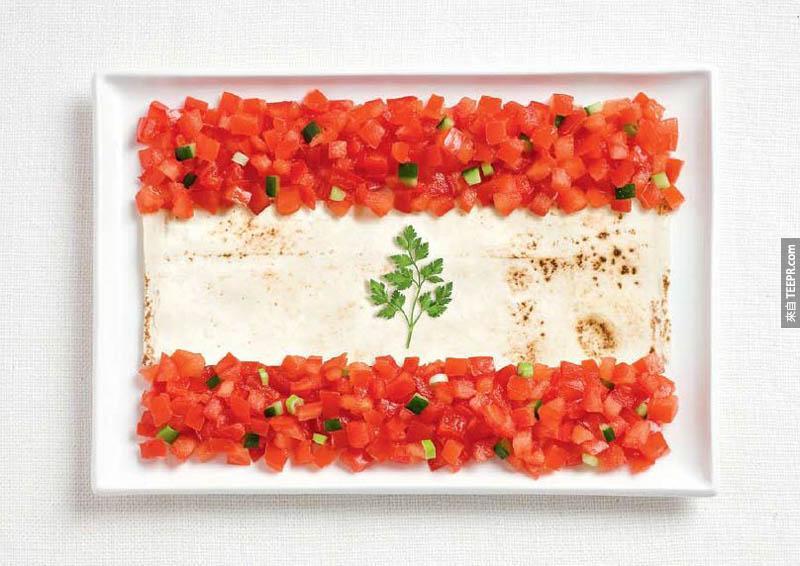 黎巴嫩 - 番茄、皮塔麵包、香菜