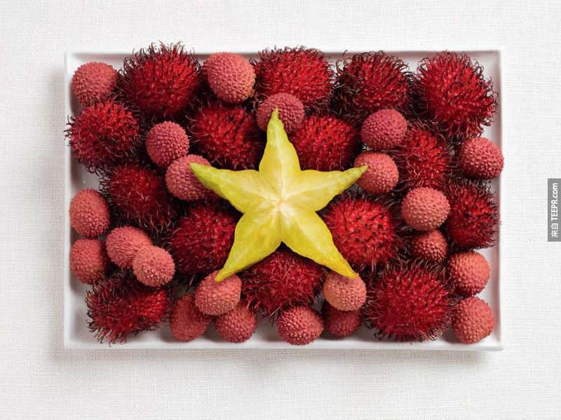 越南 -  紅毛單、荔枝、楊桃