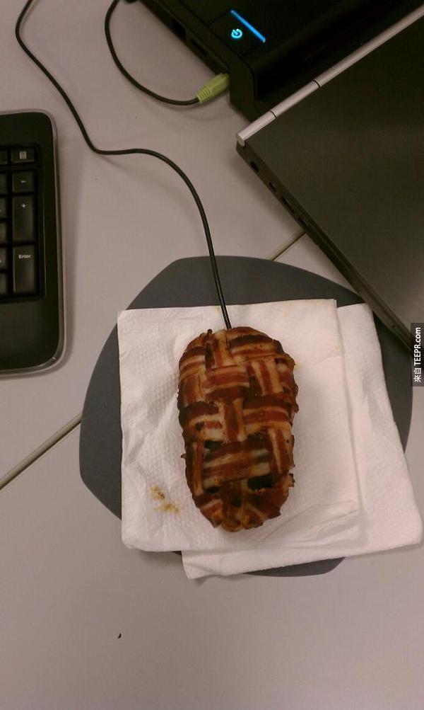 2.) 培根滑鼠!這太美味了,怎麼能算惡作劇呢?