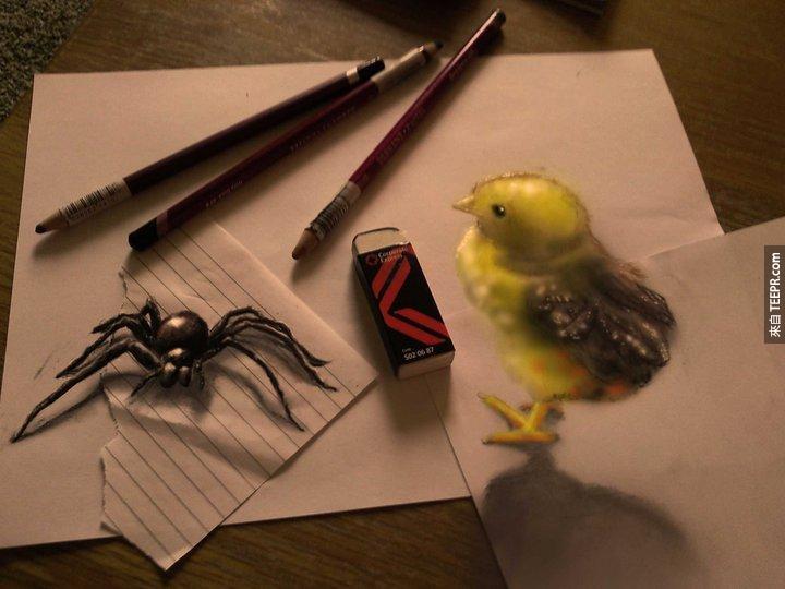 這個人只要一張紙和一支筆,就可以讓你看得目瞪口呆。這,就是鬼斧神工!