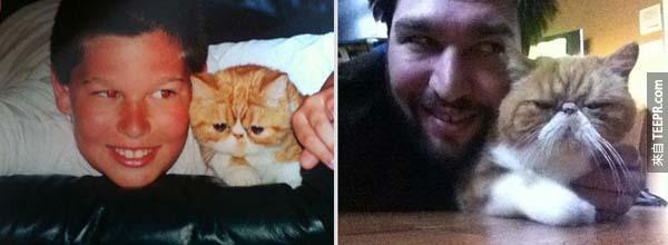 貓貓長大還是不喜歡他壓在身上 >_<。