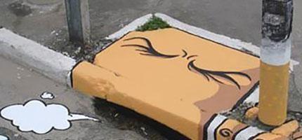在街上塗鴉通常都算是犯罪,但是這些人在街上畫的圖案真的讓我沒話說。太經典了!