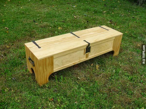 看起來就是一個木箱子...