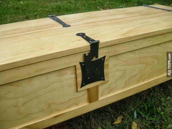 錯了,是一個很精緻的木箱子...