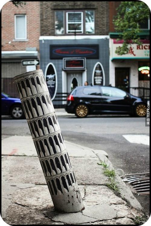 """4. 費城的""""小""""比薩斜塔。"""