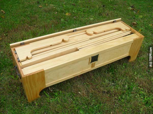 咦,院子裡怎麼有一個木箱子?打開來看看是什麼...哇賽!