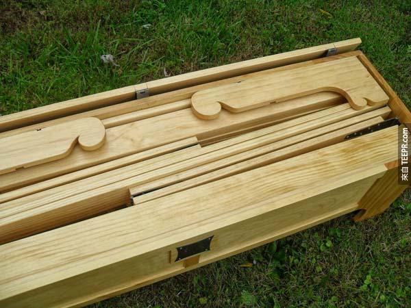 很難想像這多木板是做什麼的。