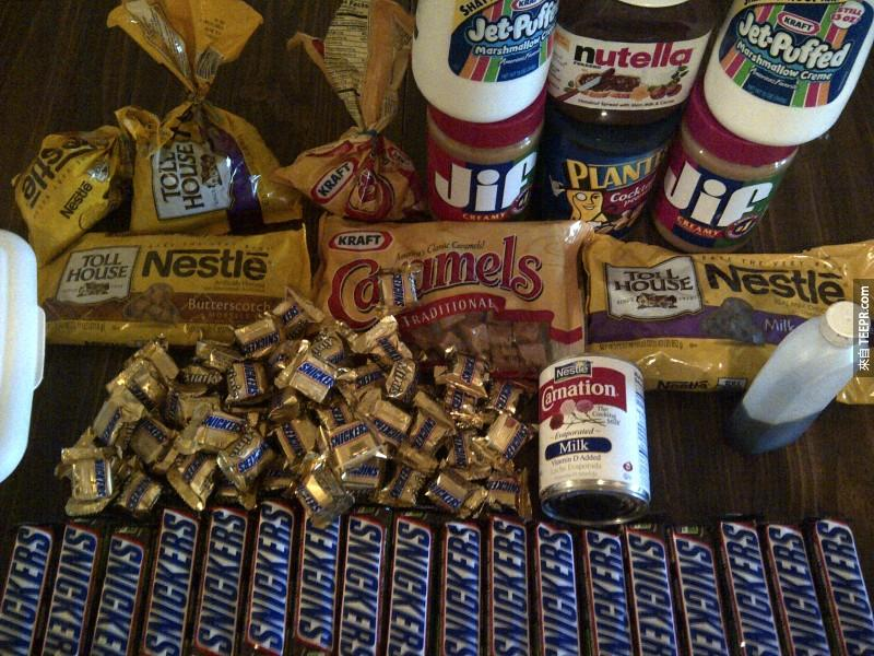 Before starting this diabetes inducing undertaking, you'll need candy, and some more candy. All the candy seen here basically.