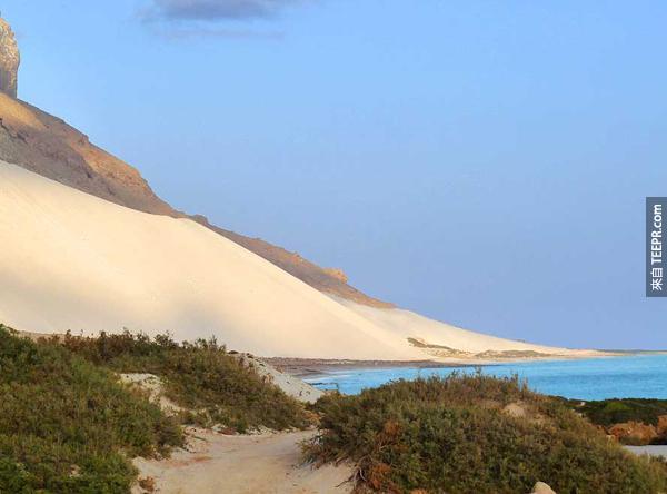 现在这一整座岛都被沙子覆蓋。