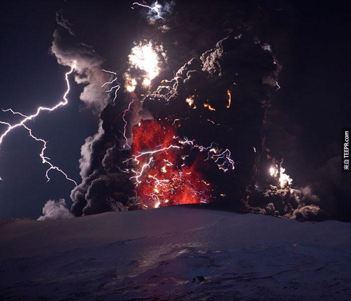 1)埃亞菲亞德拉冰蓋火山噴發,2010(冰島)