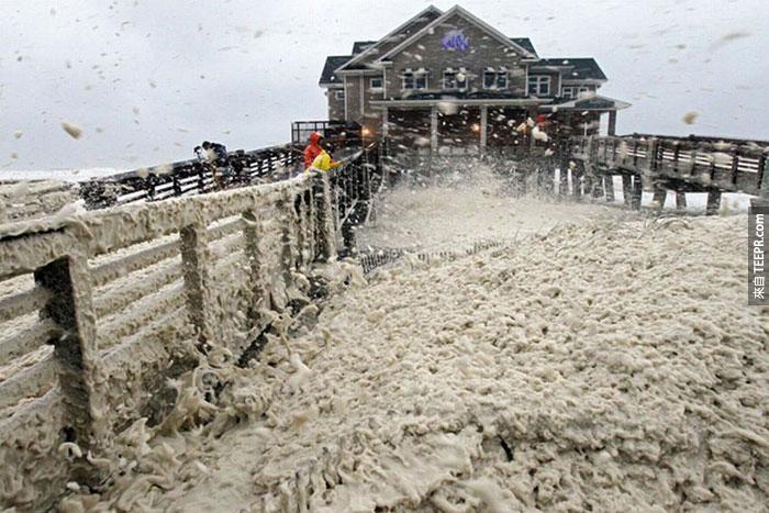 7)颶風桑迪打者碼頭在新澤西州,2012(美國)
