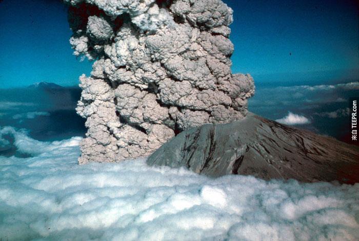8)聖海倫火山噴發,1980(美國)