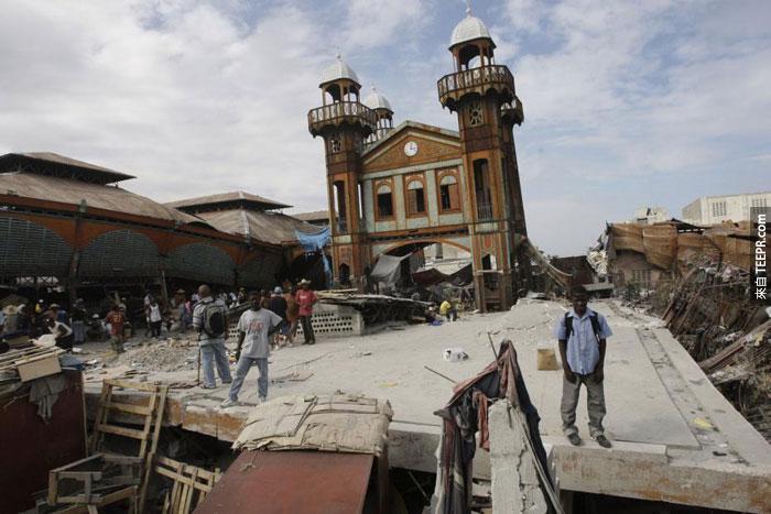 4)災難性的地震摧毀了萊奧甘鎮,2010(海地)
