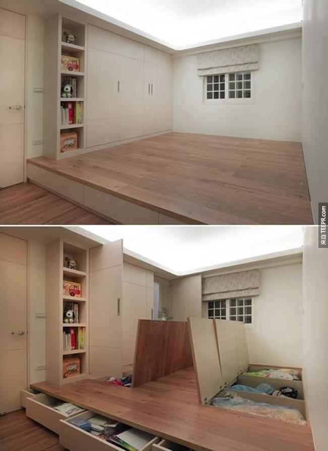 這個客房其實是也是一間儲藏室。