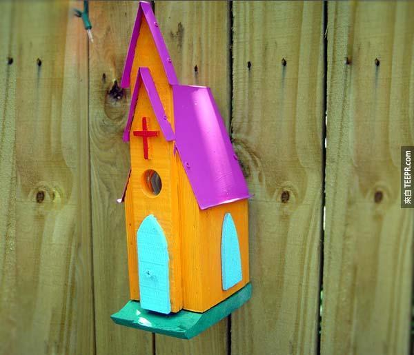 50. 教會禽舍 Church Birdhouse (格里爾,南卡羅來納州,美國)