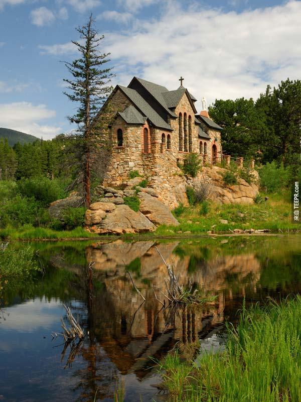 45. 在岩石上的教堂 The Chapel on the Rock (Allenspark, 科羅拉多州,美國)