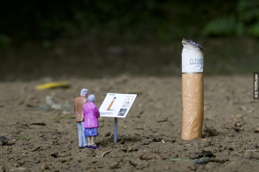 4. 小人跟香煙頭