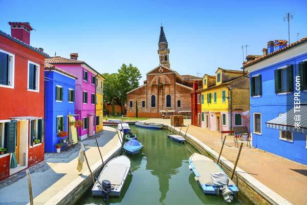 1.) 彩色島,義大利 (Burano, Italy)