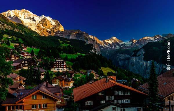 9.) 瑞士,翁根 (Wengen, Switzerland)