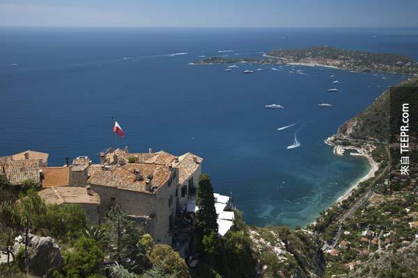 13.) 法國里維埃拉,埃茲  (Eze, French Riviera)
