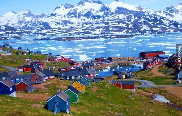 4.) 塔斯拉克,格陵蘭 (Tasiilaq, Greenland)