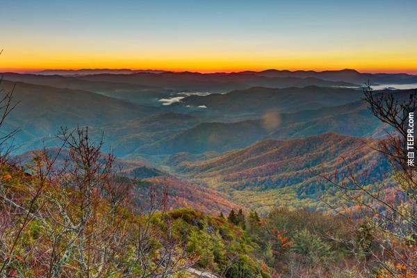 19)大煙山(北卡羅萊納州和田納西州)