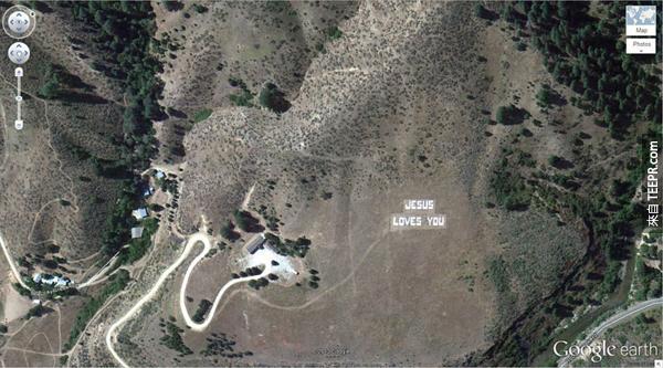 13.) 一個給耶穌的愛的訊息 (43.645074, -115.993081) 博伊西國家森林,愛達荷州博伊西,美國